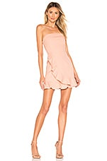 superdown Rosie Strapless Ruffle Dress in Peach