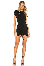 superdown Yasmine Ruched Tie Dress in Black