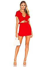superdown Mia Ruffle Tie Dress in Red