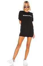 superdown Kate Jersey Tee Dress in Black