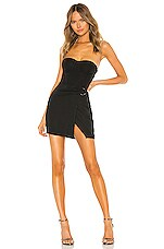 superdown Gabrielle Corset Wrap Dress in Black