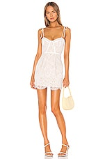 superdown Lottie Lace Bustier Dress in White