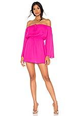 superdown Jazzie Off Shoulder Dress in Hot Pink