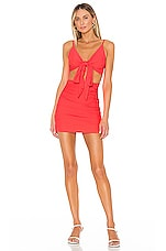 superdown Jenna Twist Front Dress in Neon Coral