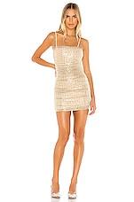 superdown Naya Mini Dress in Nude Metallic