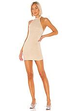 superdown Lilith Halter Mini Dress in Nude