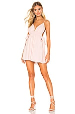 superdown Laney Ruched Mini Dress in Light Pink