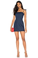 superdown Helena Tie Mini Dress in Denim