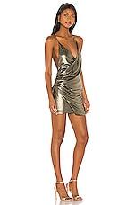 superdown Anna Draped Mini Dress in Gold