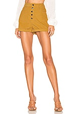 superdown Francis Cord Shorts in Mustard