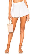 superdown Cory Flutter Shorts in White