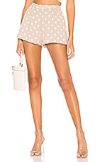 superdown Hallie Flutter Shorts in Tan