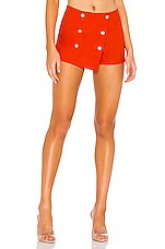 superdown Tabby Skort in Red in Poppy