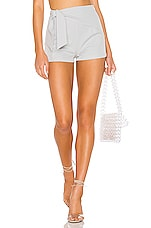 superdown Isabella Wrap Short in Gray