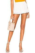 superdown Emmy Eyelet Ruffle Shorts in White