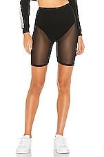 superdown Danika Mesh Biker Short in Black