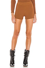 superdown Mailyn Knit Shorts in Mocha