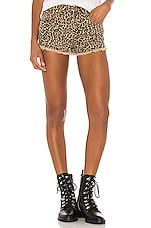 superdown Priya Cut Off Shorts in Leopard