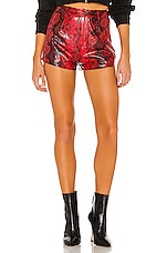 superdown Tarah High Rise Short in Red