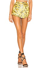 superdown Alana Floral Brocade Skort in Yellow