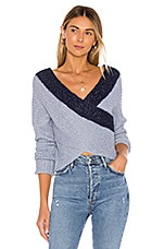 superdown Lanah Wrap Sweater in Blue Multi