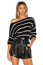 superdown Eden Striped Sweater in Black Multi