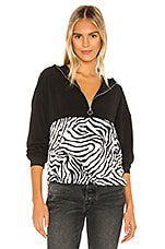 superdown Tilly Zip up Jacket in Black & White Zebra