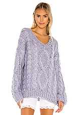 superdown Roxie Cable Knit Sweater in Dusty Lavender