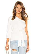 superdown Megan One Shoulder Sweater in Cream