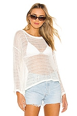 superdown Kelsey Pullover Sweater in White