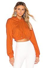 superdown Candice Cropped Hoodie in Orange
