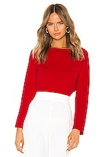 superdown Geraldine Ribbed Sweater in Red