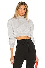 superdown Meghan Crop Sweatshirt in Heather Grey