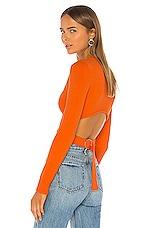 superdown Iris Cut Out Back Sweater in Orange