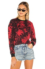 superdown Breanna Crew Neck Sweatshirt in Black & Red