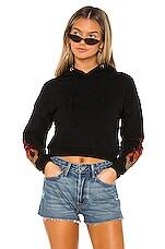 superdown Brittany Cropped Hoodie in Black