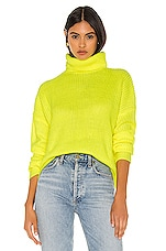 superdown Lira Turtleneck Sweater in Neon Yellow