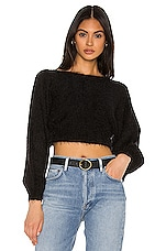 superdown Ava Cropped Sweater in Black