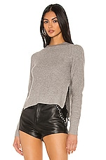 superdown Josie Cropped Sweater in Light Heather Grey