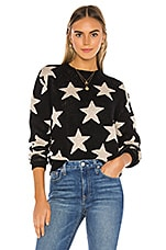 superdown Rosabel Crew Neck Sweater in Black Multi