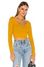 superdown Kendra Crop Sweater Top in Marigold