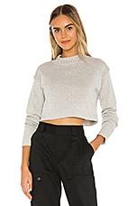 superdown Darla Cuffed Sweater in Heather Grey