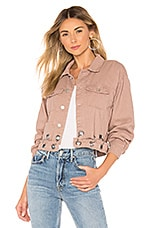superdown Kylie Crop Denim Jacket in Dusty Pink