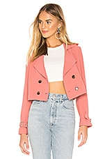 superdown Ariel Crop Trench Coat in Dusty Rose