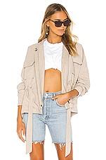 superdown Page Zip Up Jacket in Tan