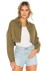 superdown Vanessa Cropped Denim Jacket in Green