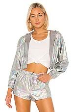 superdown Krystal Cropped Jacket in Grey Multi