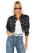 superdown Quinn Button Up Jacket in Black