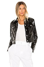 superdown Nicki Cropped Moto Jacket in Black
