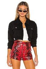 superdown Mona Zip Front Jacket in Black
